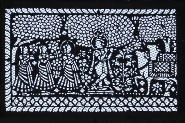 Fenster im Amber Fort