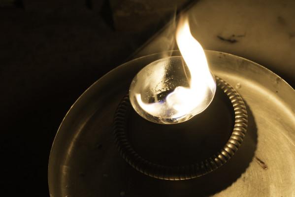 Kerze im Jain Tempel