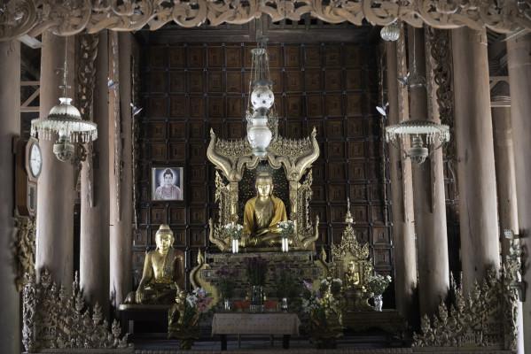 Buddha in der Sutaungpyei Pagode